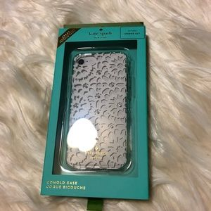 KATE SPADE CLEAR MULTI JEWELED FLORAL MOSAIC CASE